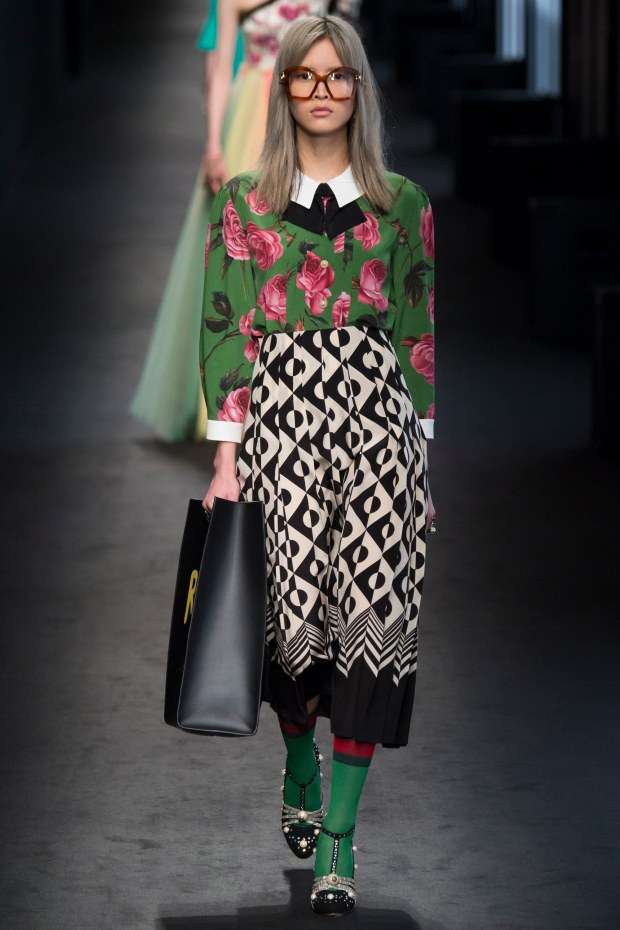 gucci mixed prints