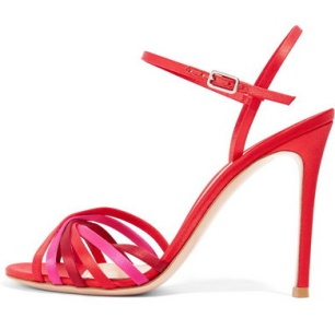 red sandals_left