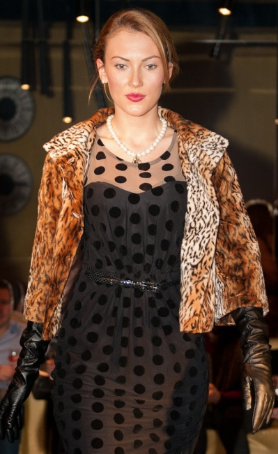 10 Fashion show styling Polka dots and leopard