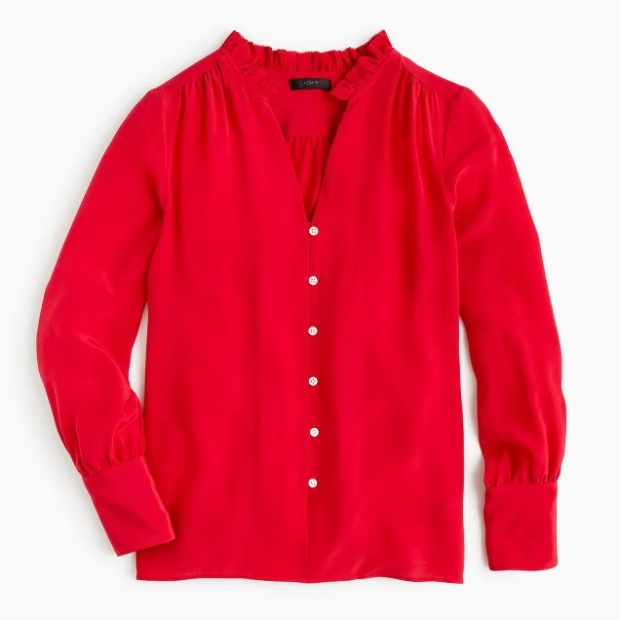 jcrew++red+silk+blouse